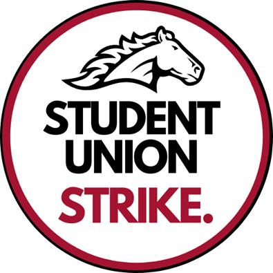 Menomonie Student Union Strike Logo