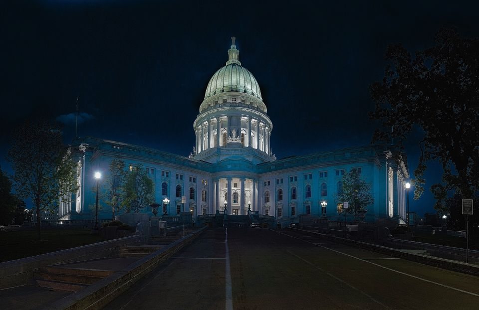 Madison Capitol at Night