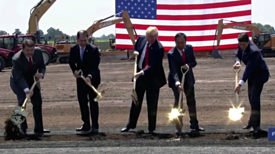President Trump at Foxconn Groundbreaking