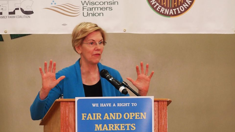 Elizabeth Warren at Farmers Rights Rally