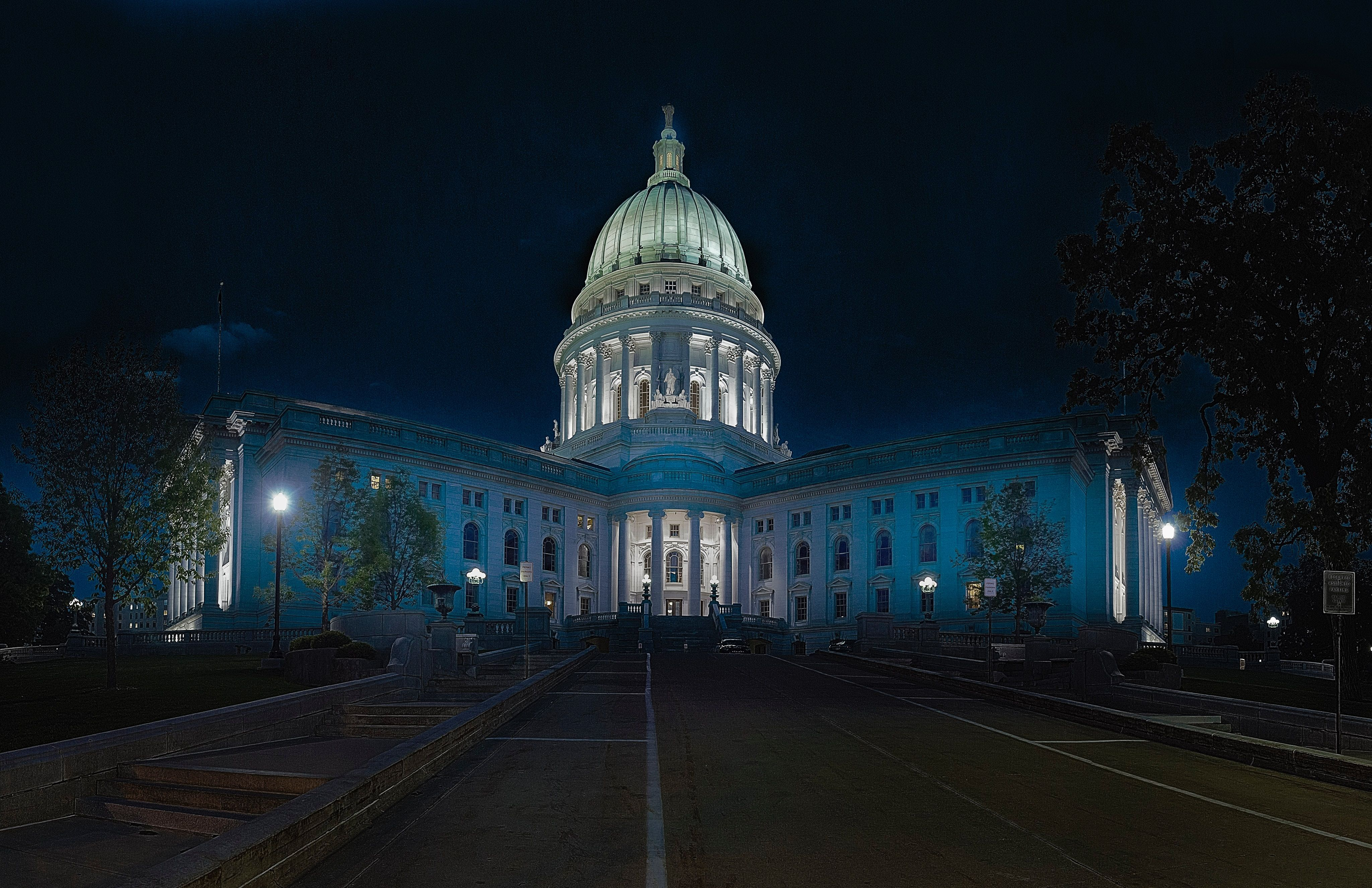 Madison Capitol at Night